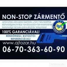 Ajtó-Zármentő Kft.: Non-Stop Zárszerelés, Ajtónyitás