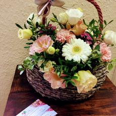 Virág ajándék kosár