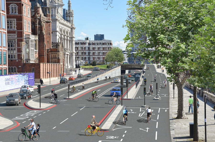 Londoni tervek (fotó: Cycling Weekly)